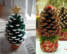 DIY Pine-Cone-Christmas-Trees