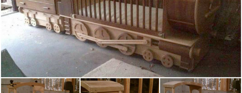 Amazing Diy Train Bed Tutorial Beesdiy Com