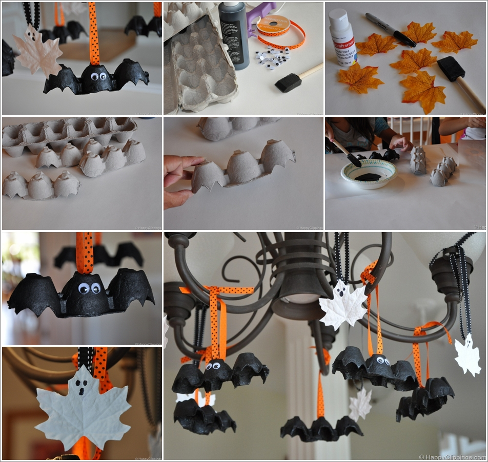 DIY Halloween egg-carton-bats-and-leaf-ghosts