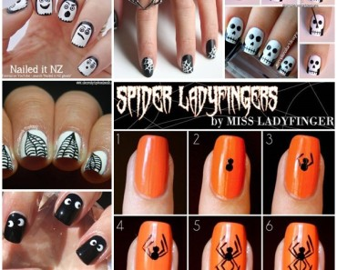 20 craziest DIY halloween nail art