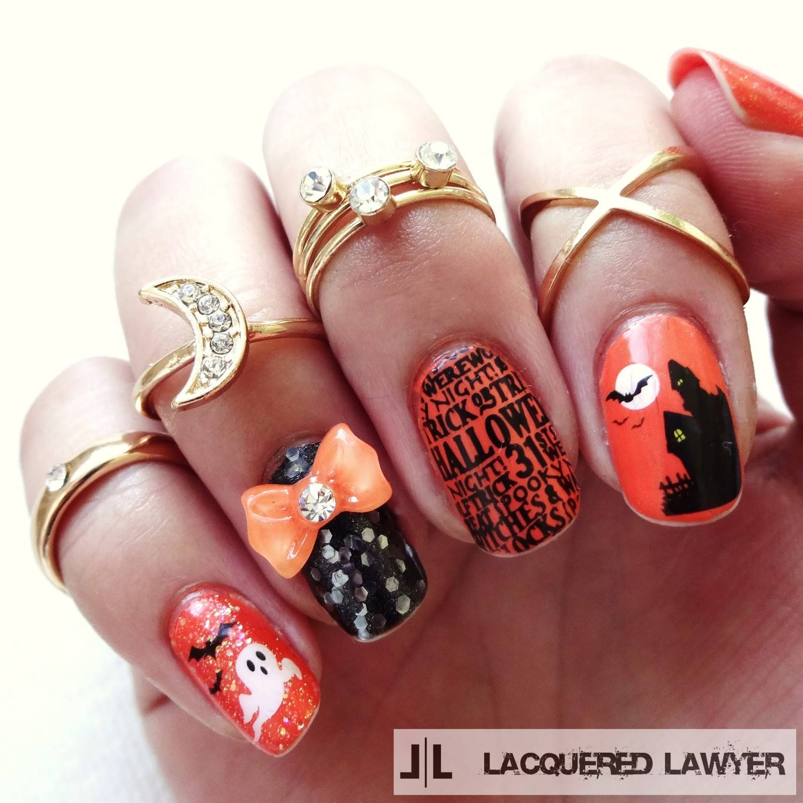 DIY halloween nail art10
