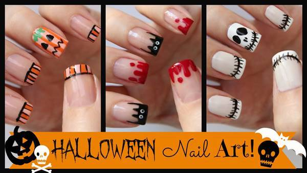 DIY halloween nail art11