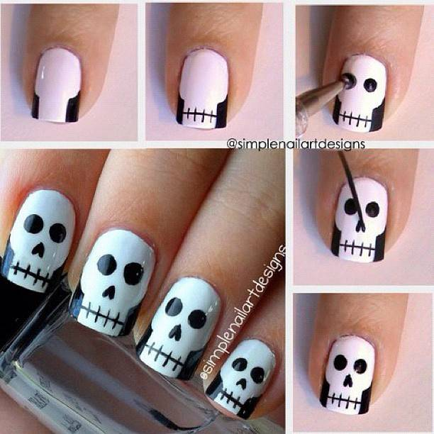 DIY halloween nail art13