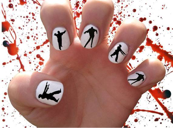 DIY halloween nail art14