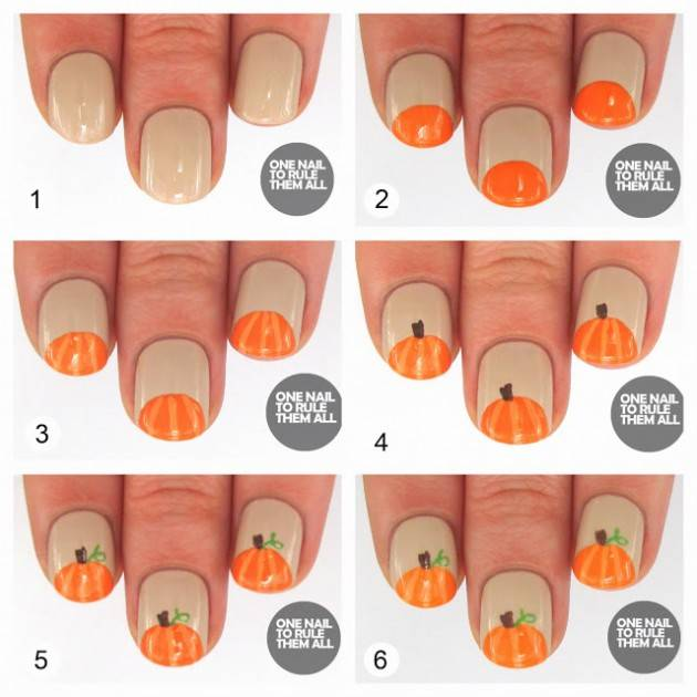 DIY halloween nail art2