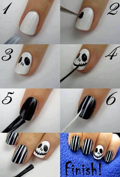 DIY halloween nail art5
