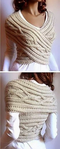 Knitted Sweater Cowl Vest tutorial