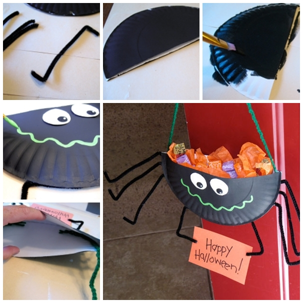 Paper Plate Black Cat Diy For Halloween Beesdiy Com