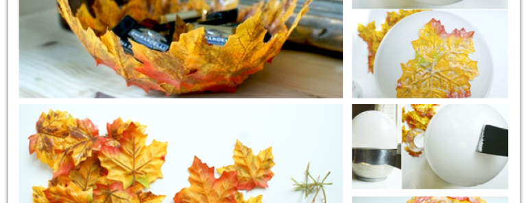 how to make a leaf bowl with a balloon