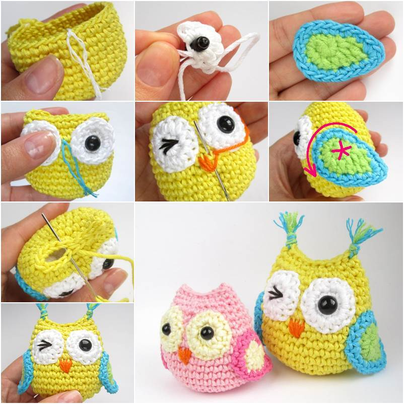 Free Crochet Pattern Owl Family : 8 Adorable Crochet Owl Patterns (FREE) BeesDIY.com