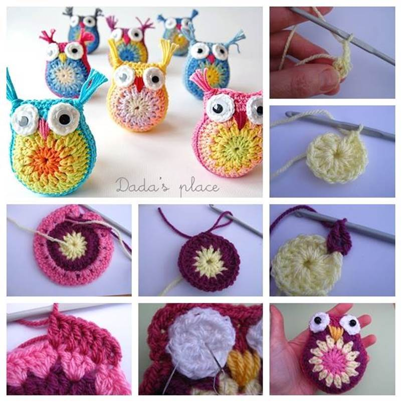 Free Crochet Pattern Small Owl : 8 Adorable Crochet Owl Patterns (FREE) BeesDIY.com