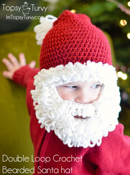 503037079 Imtopsyturvy — Double Loop Crochet Bearded Santa Hat Crochet FREE Pattern