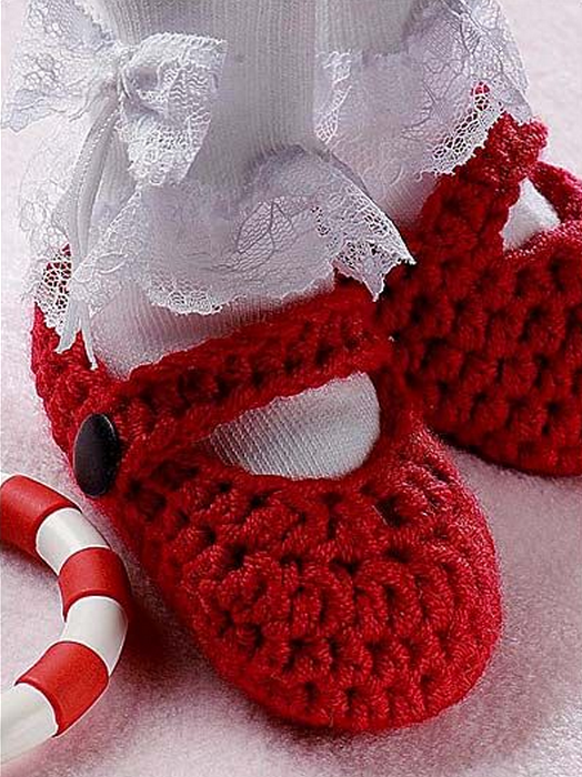 Red Bootie Baby Shoes