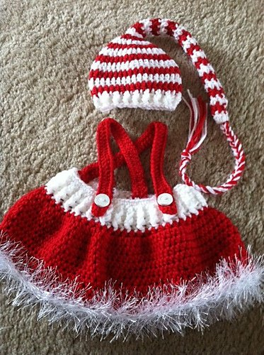 7024a8dbded Crochet Christmas Sets for Baby (FREE Pattern )