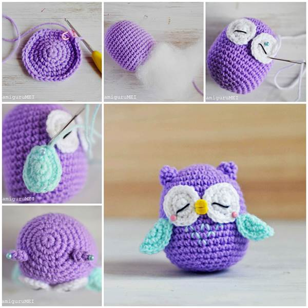 8 Adorable Crochet Owl Patterns (FREE) BeesDIY.com
