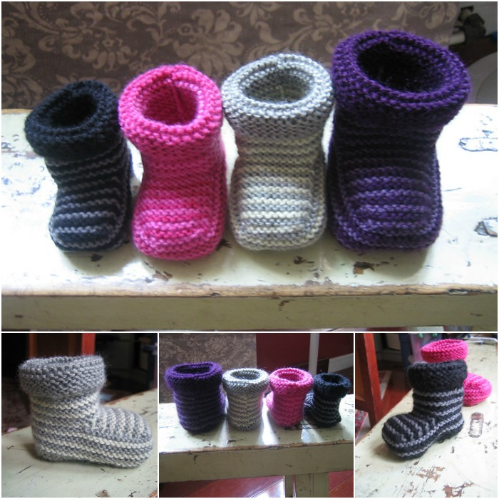 Striped Baby Boots Free f