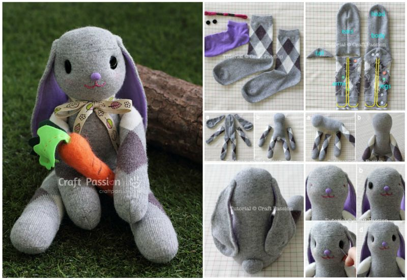 Long-Ear-Sock-Bunny- DIY Tutorial