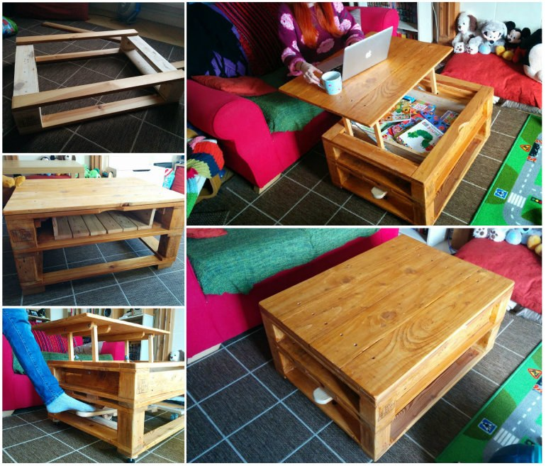 Build Your Own Coffee Table With Storage: DIY Multifunction Pallet Coffee Table