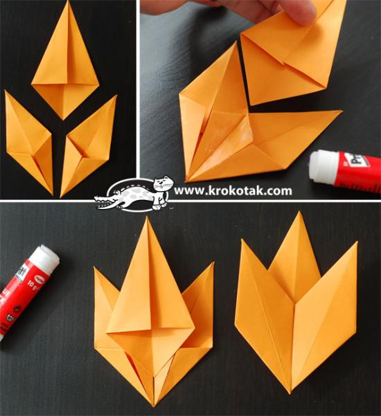 Origami Fall Leaf Diy Paper Craft Beesdiy Com