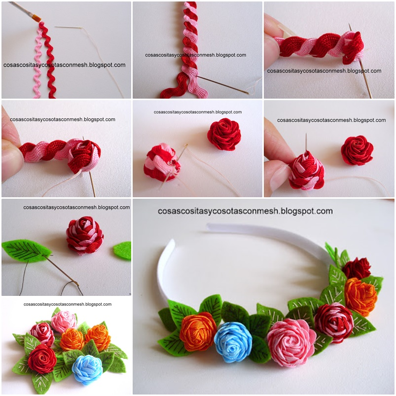 Pretty rose headband diy tutorial for How to make home decorations