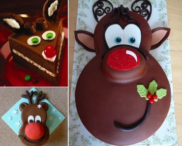 Rudolph the Red Nosed Reindeer Cake Tutorial