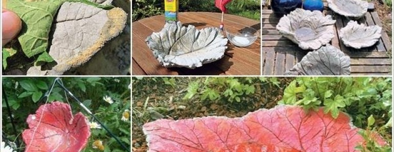 DIY Leaf Sand Cast Birdbath Tutorial