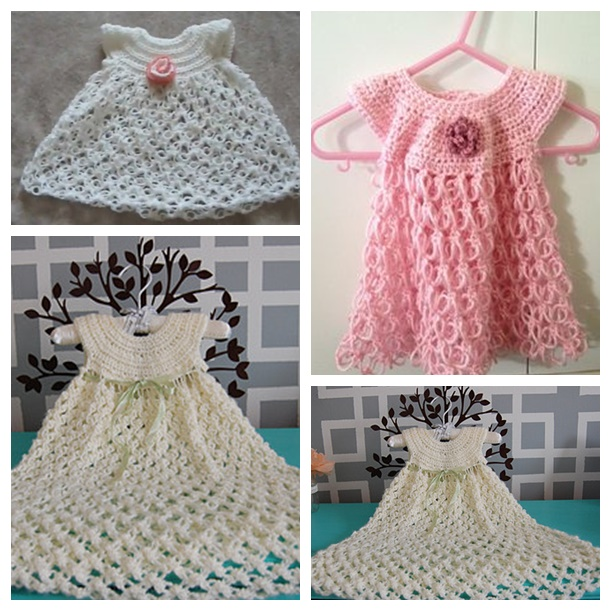 Solomon's Knot Crochet dress FREE pattern