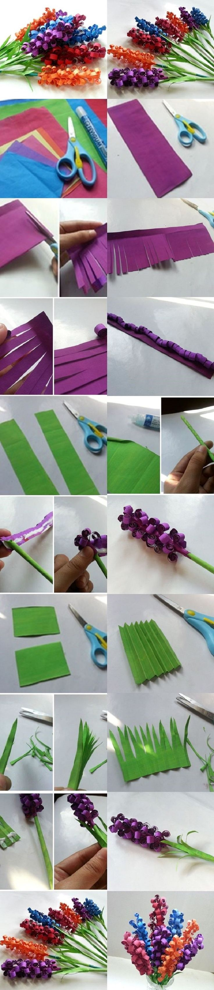 Swirly-Paper-Flower DIY tutorial