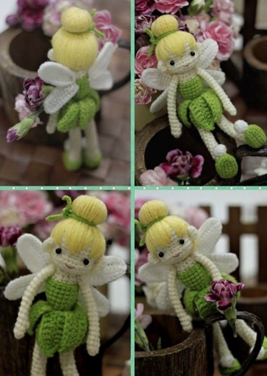 Tinkerbell Crocheted Doll