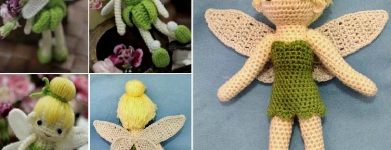 Cute Tinkerbell Crochet Doll Pattern (FREE)