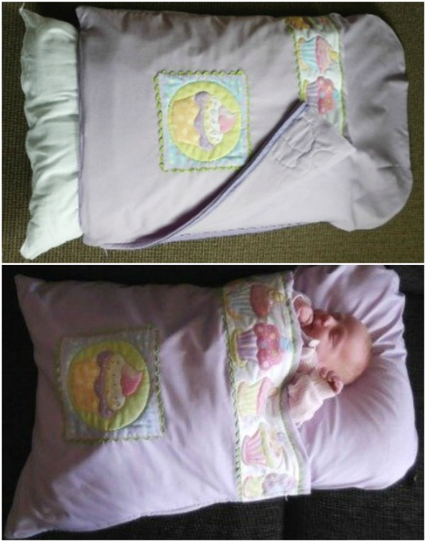 Diy Craft Projects Baby Pillowcase Sleeping Bag: DIY Pillowcase Sleeping Bag for Baby (Video)   BeesDIY com,
