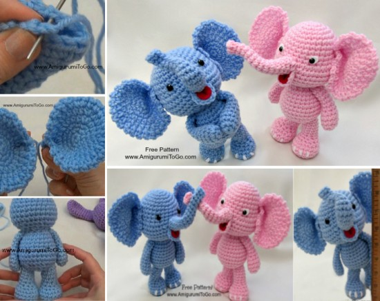 10 Crochet Elephant Patterns Free Beesdiy Com