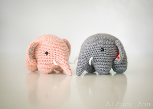 Crochet Elephant Softie and More Free Patterns For 2020 | 357x500