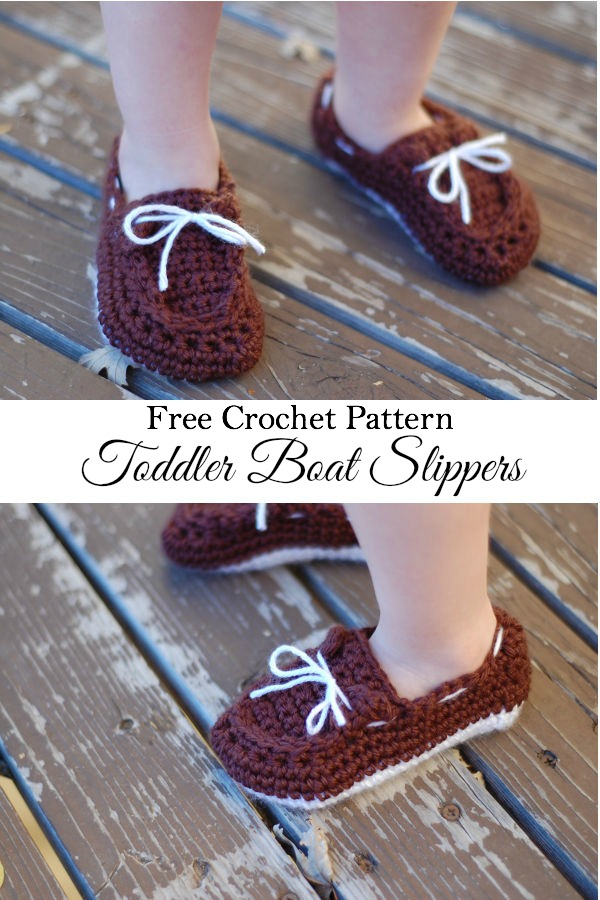 crochet Toddler boat slippers