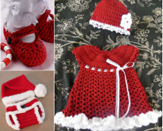crochet baby Christmas- sets