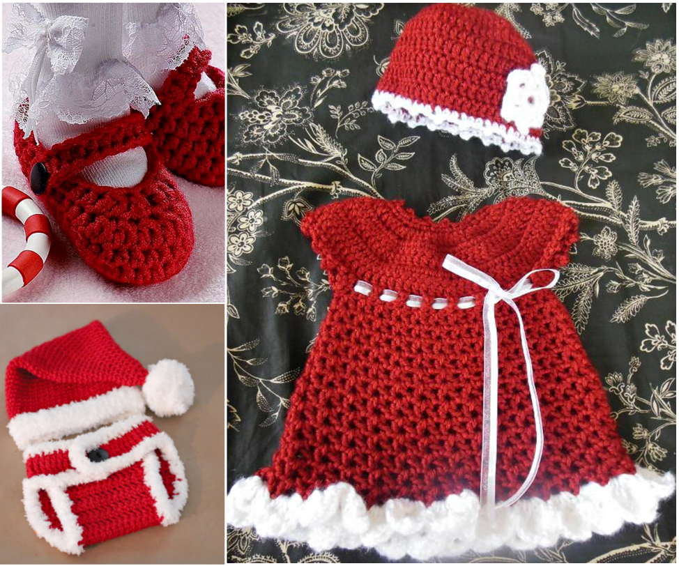 Crochet christmas sets for baby free pattern beesdiy bankloansurffo Image collections