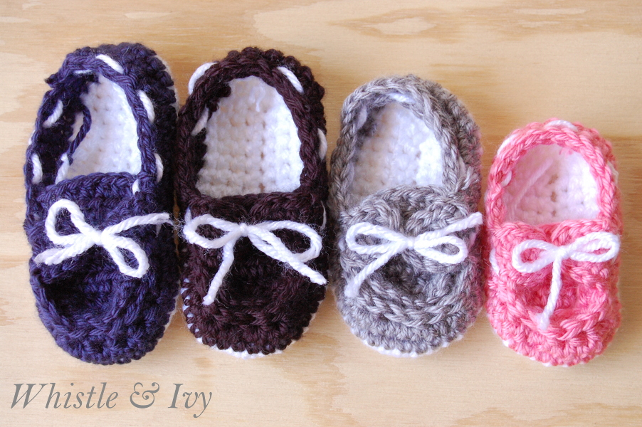 crochet baby boat slippers
