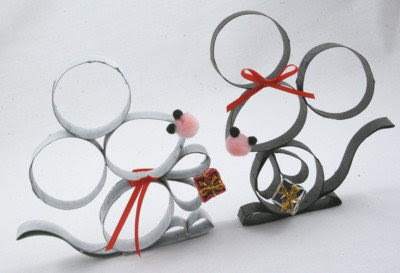 DIY Cute Paper Roll Mice