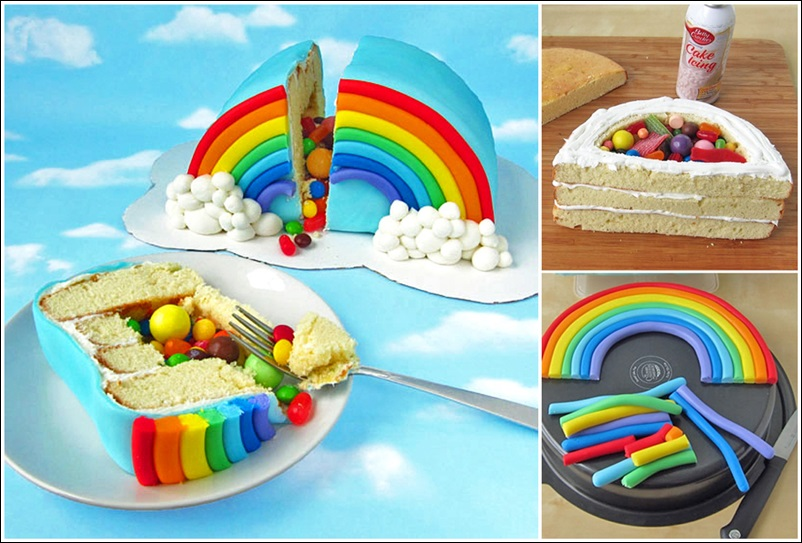 rainbow-pinata-cake tutorial