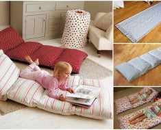 Simple Roll Up Pillow Bed DIY Tutorial