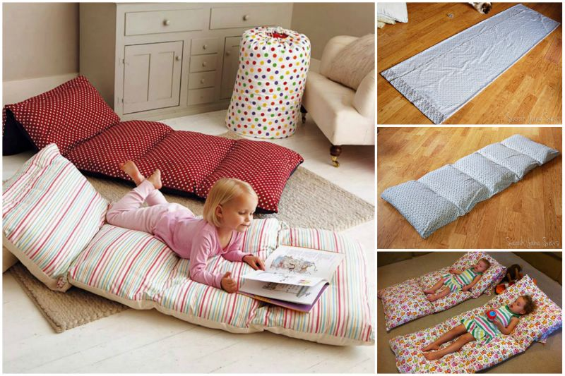 Simple Roll Up Pillow Bed Diy Tutorial Beesdiy Com