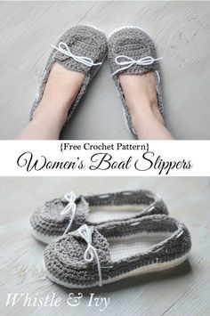 womens-crochet boat-shoes-slippers-free-pattern