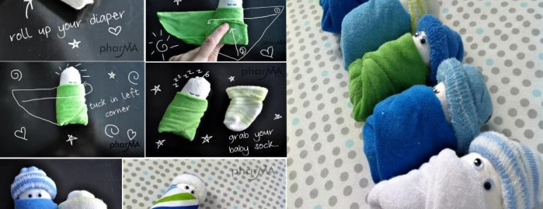 Adorable Baby Gift Idea — DIY Diaper Baby