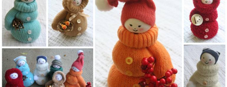 Adorable DIY Snowman from Mittens