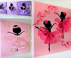 Adorable Dancing Tutu Ballerina Wall Art