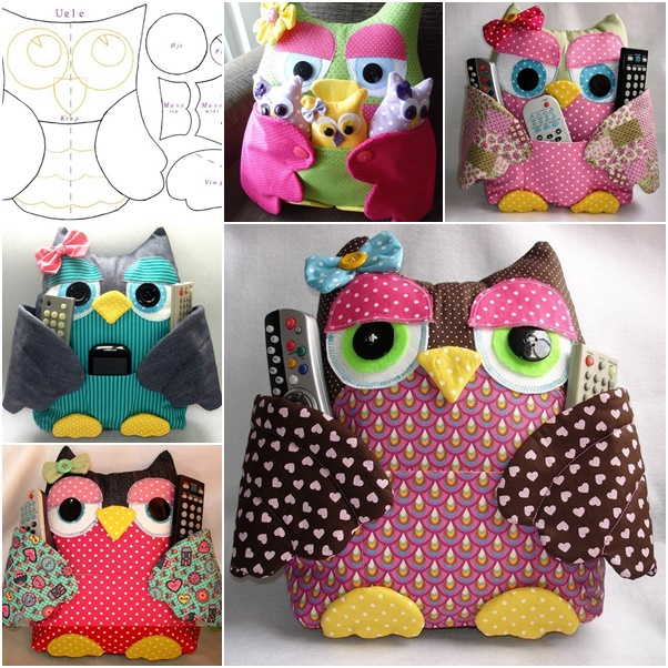 Cute Pillow Crafts : Adorable DIY Owl Pillow Tutorial BeesDIY.com