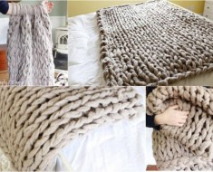 How to DIY Arm Knit Blanket in 45 Minutes