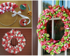 Christmas Idea - DIY Ribbon Wreath