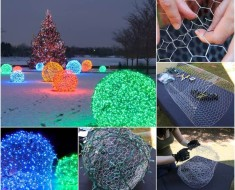 DIY Christmas Light Balls Tutorial