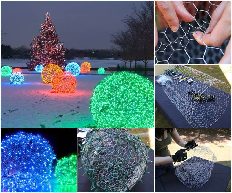 Christmas Light Balls DIY Tutorial